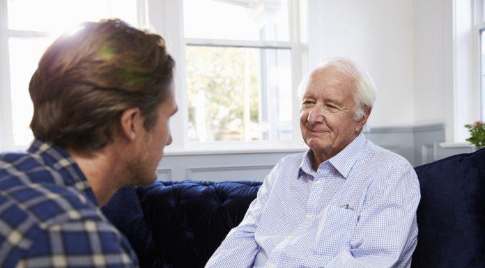 Talking to an elderly parent