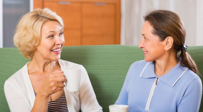 mature women talking